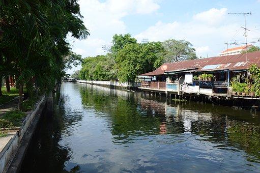 Thailand, Canal, Bangkok, Culture, People