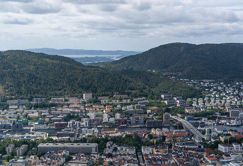 Bergen, Norway, Tourism, Bridge, Outdoor, Travel
