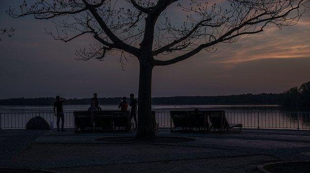 Sunset, Blue Hour, Sky, Twilight, Mood, Abendstimmung