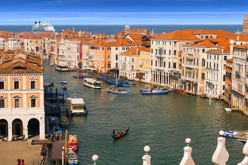 Travel, Vacations, Venice, Channel, Building