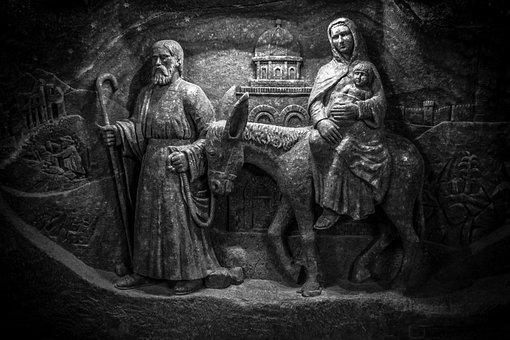 Wieliczka Salt Mine, Underground, Salt, Sculpture