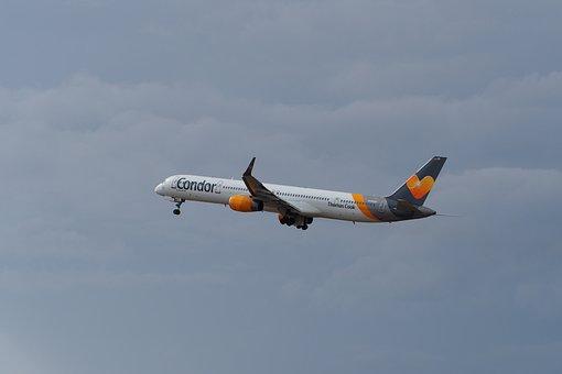 Condor, Start, Aircraft, Airport, Departure, Jet