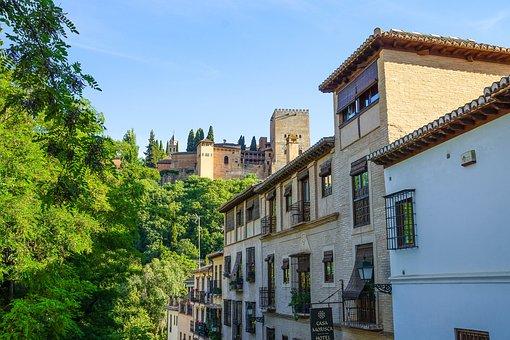 Spain, Andalusia, Granada, Alhambra, Architecture