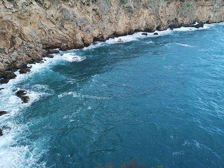 Gulf, Rocky, Water, Marine, Blue, Nature, Beach