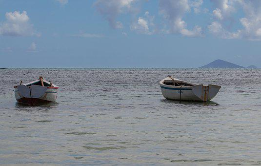 Small Boats On Sea, Row Boat, Water, Boat, Row, Ship