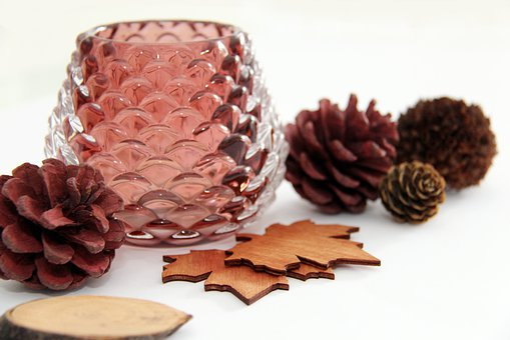 Autumn, Deco, Decoration, Brown, Tealight, Pine Cones