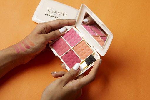 Clamy Blusher Palette, 4 Color Blusher Palette