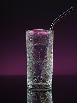 Glass, Metal Straw, Drink, Cold, Refreshing, Fizzy, Ice