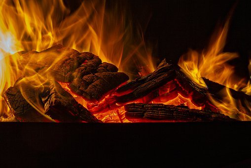 Fire, Red, Ember, Wood, Burn, Night, Combustion