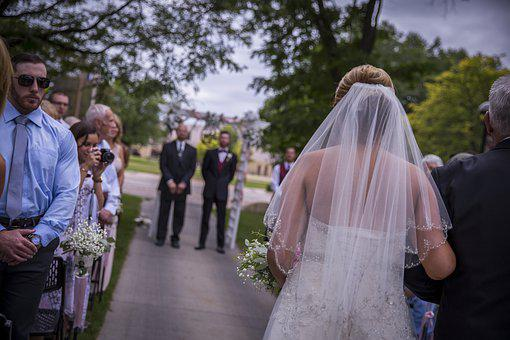 Weddings, Love, Walking The Aisle, Outdoors, Couple
