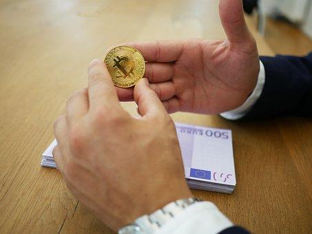 Euro, Bitcoin, Money, Finance, Europe, Gold, Coins