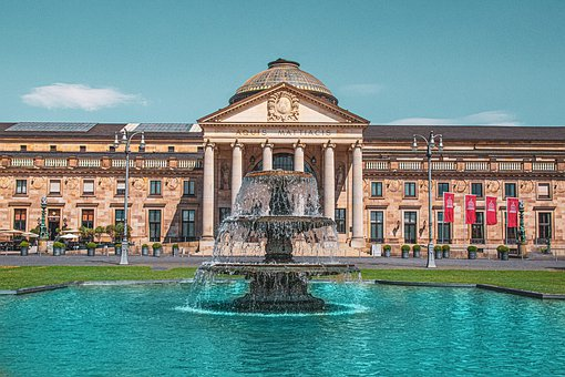 Building, City, Architecture, Water, Fountain, Landmark
