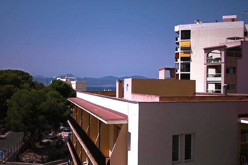 Hotel, Mallorca, Live, Holidays, Building, Sea, Spain