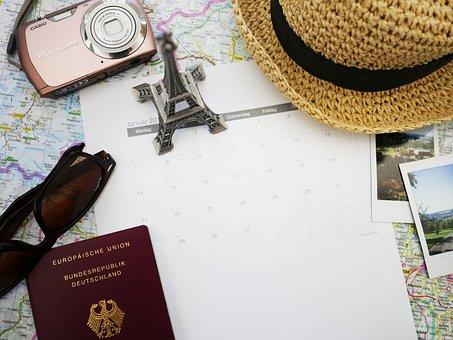 Travel, Vacations, Plan, Calendar, Destination