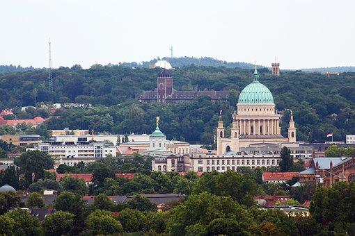 Potsdam, View, Nikolai Church, Architecture, Panorama
