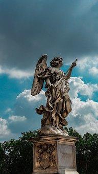 Rome, Bridge, Italy, Monument, Architecture, Angel