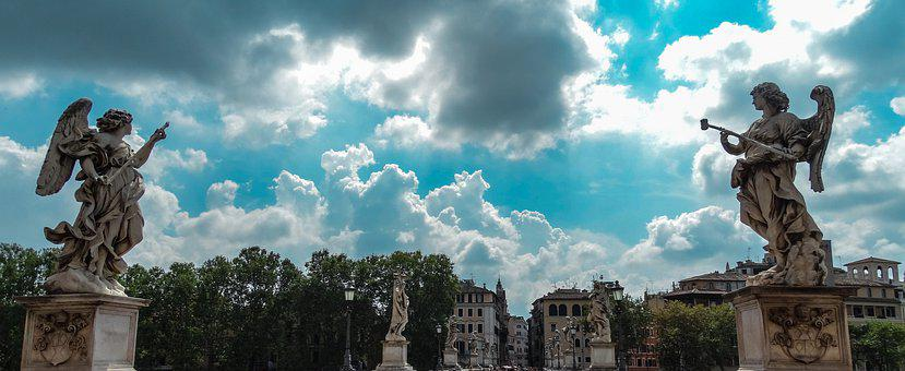 Italy, Rome, Bridge St, Angel, Ponte San Angelo