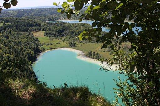 Lake, Jura, Blue, Sky, Romantic, Landscape, Nature