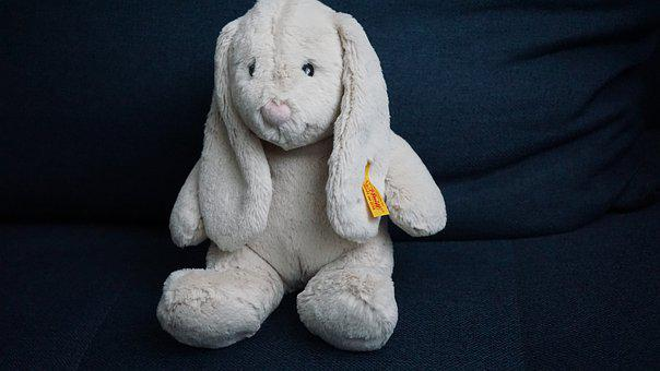 Hare, Teddy Bear, Steiff, Button In Ear, Cuddly