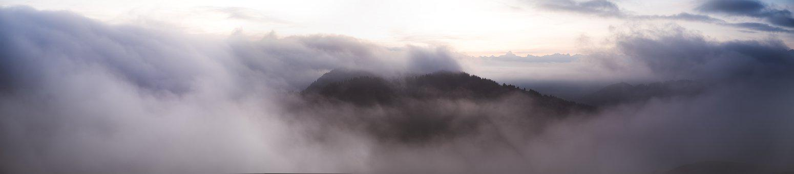 Landscape, Morning, Sunrise, Nature, Sky, Fog, Scenic
