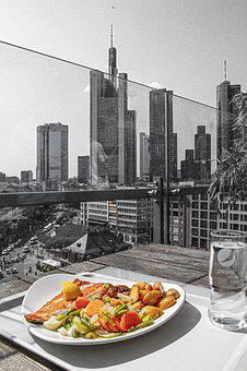 Food, City, Table, Building, Dish, Urban, Meal, Glass