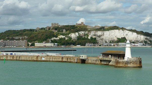 Dover, White Cliffs, Castle Dover, Port