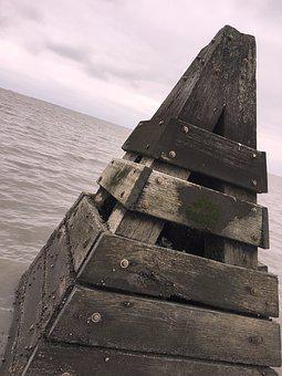North Sea, Wood, Boje, Sea, Lake, Water, Beach, Coast
