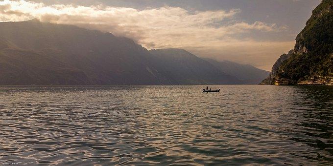 Italy, Lake, Mountains, Alpine, Dolomites, Landscape