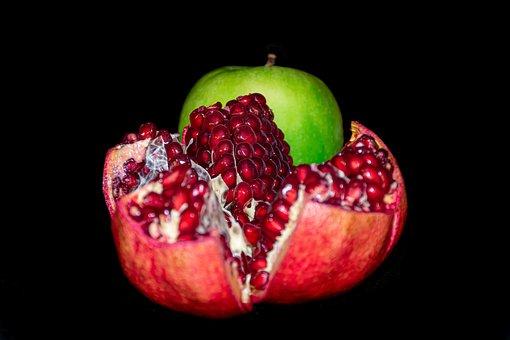 Rosh Hashanah, Apple, Pomegranate, Seeds, Healthy