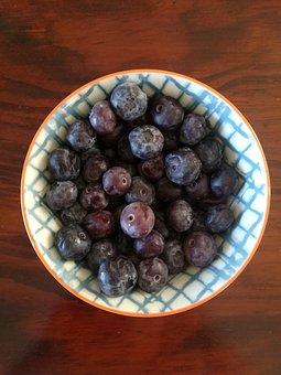 Blueberries, Bowl, Food, Breakfast, Healthy, Berries