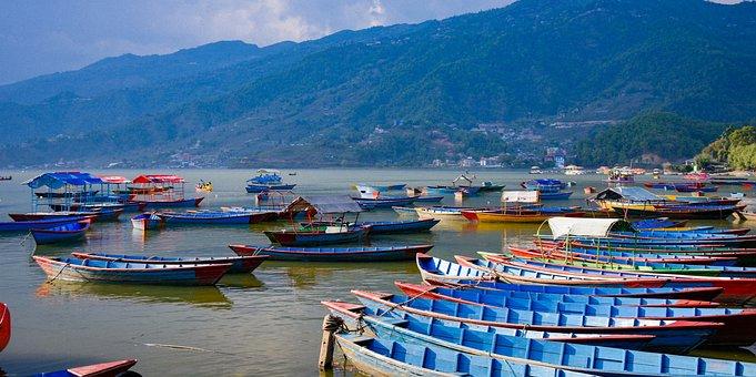 Nepal, Boats, Lake, Water, Nature, Landscape, Travel