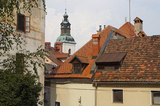 Skofja Loka, Cityscape, Church, Building, City View