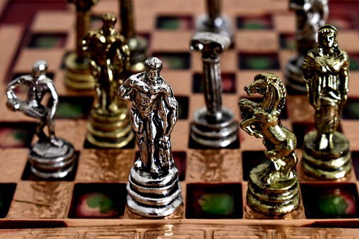 Chess, Chessboard, Game, Play, Medal, Ancient, Statues