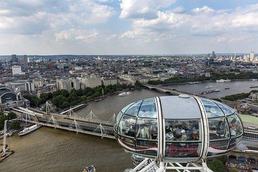 London, London Eye, Ferris Wheel, England, City