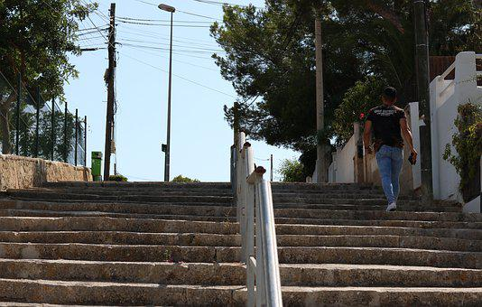 Road, Treppem, Stairs, Architecture, City, Building