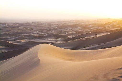 Desert, Sand, Dune, Gobi, Mongolia, Landscape, Moon