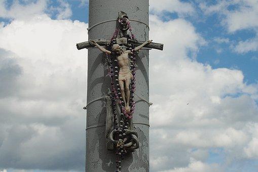 Cross, Faith, Religion, Jesus Christ, God, The Rosary