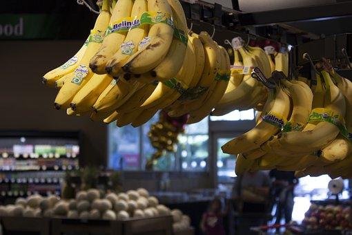Banana, Ripe, Yellow, Fruit, Healthy, Food, Bananas