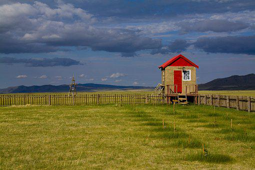 Mongolia, Travel, Camp, Security, Hut