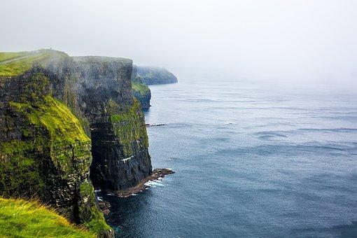Ireland, Mountains, Landscape, Clouds, Lake, Green