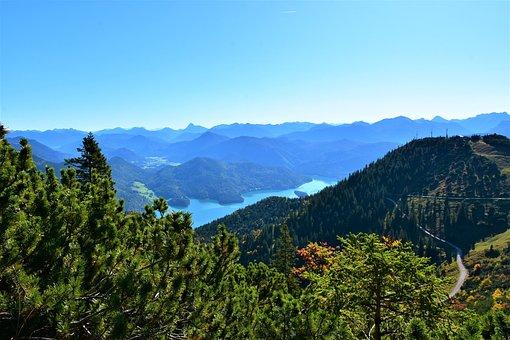 Walchensee, Lake Herzogstand, Mountain, Bavaria, Nature