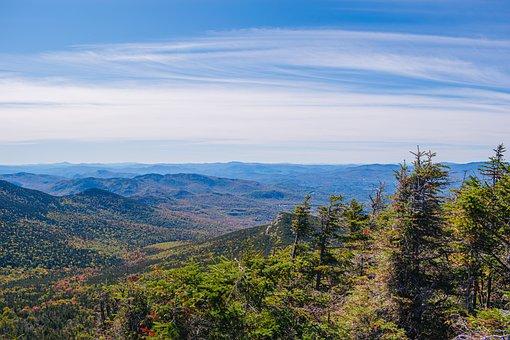 Mountain, Fall, Autumn, White, Nature, Landscape