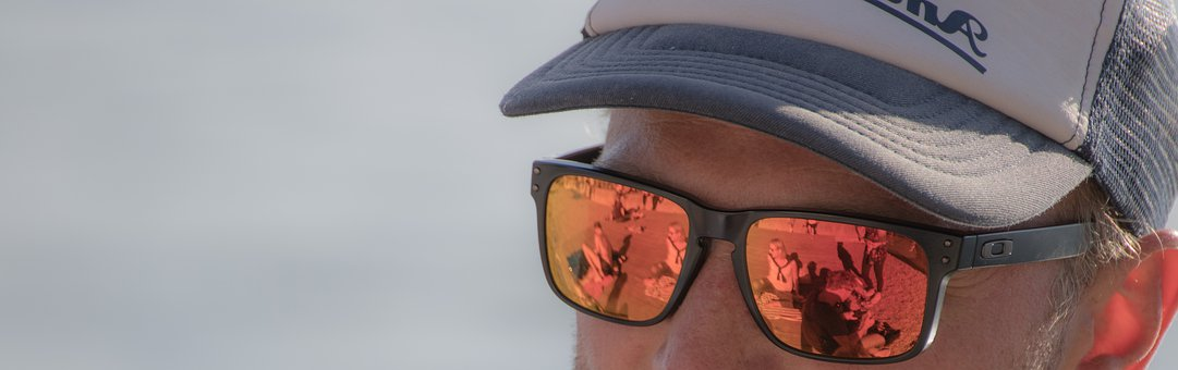 Sunglasses, Orange, Mirroring, Reflection, Color, Man
