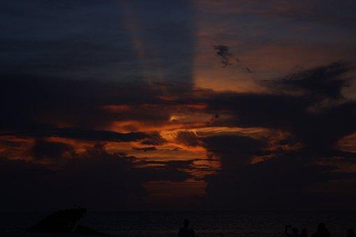 Beach, Ocean, Clouds, Sunset, Waves, Sunrise, Wave, Sky