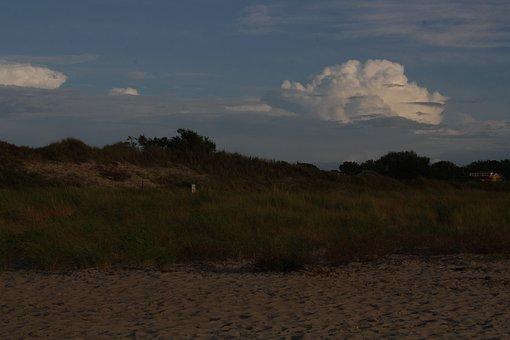 Dune, Beach, Sky, Clouds