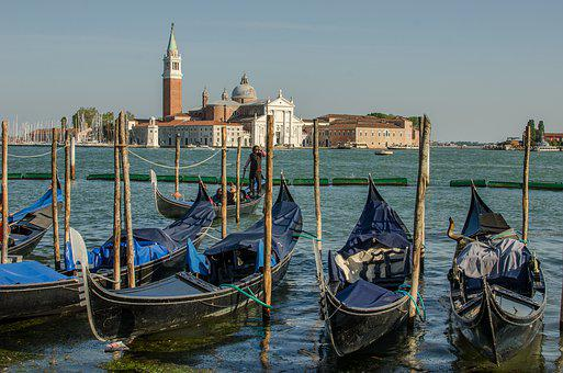 Venice, The Grand Canal, Gondola, Italy, Travel