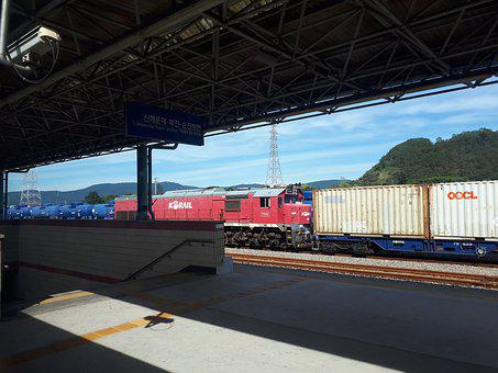 Train, Korea, Railway, Transportation, Shipping