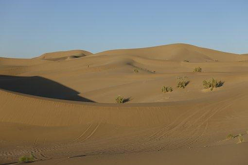 Iran, Varzaneh, Landscape, Desert