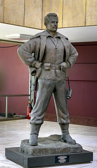 Statue Gregory Afxentiou, War Museum, Cyprus, Hero
