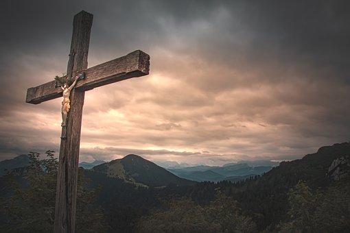 Cross, Crucifix, Jesus, Alpine, Mountains, Nature